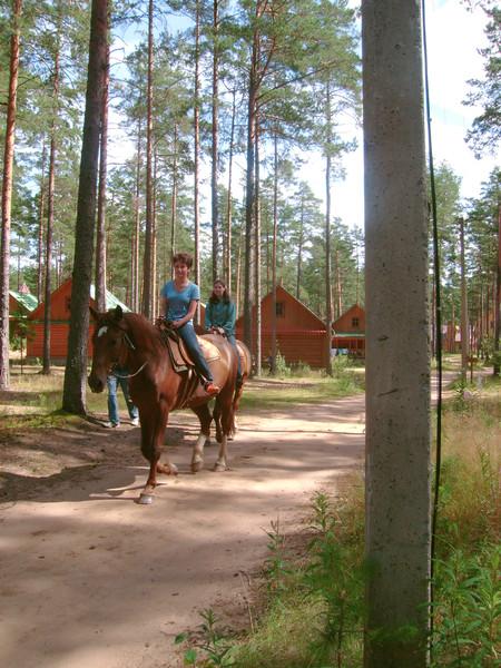 Конные прогулки — приятное времяпровождение по вечерам, отличный моцион перед ужином