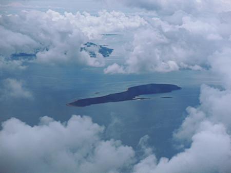 Хорватские острова из-под облаков