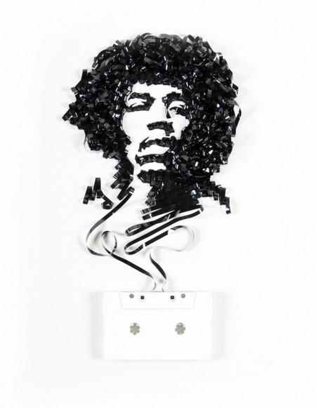 Портреты знаменитостей из старых магнитофонных кассет — фото 7