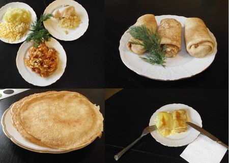 Масленица обязывает :-) Фаршированные блинчики: с капустой, курицей, картошкой и творогом — фото 1