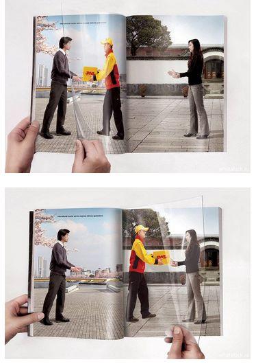 Реклама курьерской службы DHL