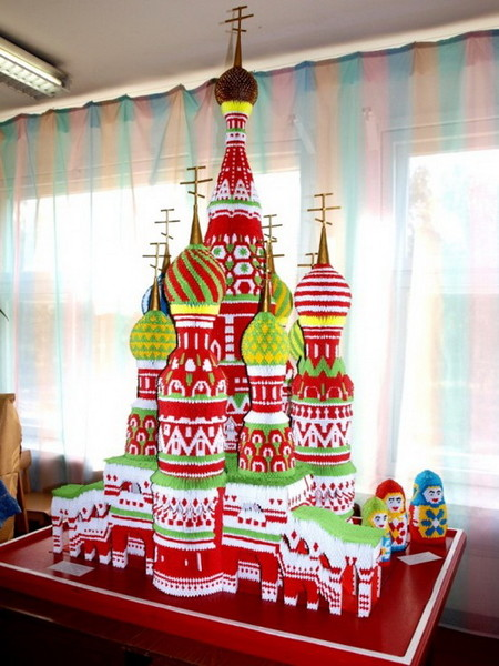 Бумажный Собор Василия Блаженного от Сергея Тарасова — фото 3
