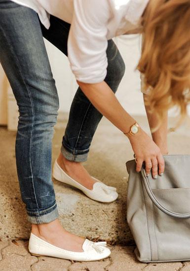 Низкий каблук и плоская подошва: лоферы, балетки, мокасины в модных коллекциях 2013 года — фото 7