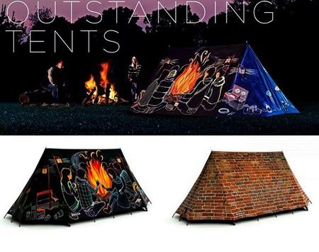 """Судя по изображению, палатка вполне способна вместить дружную компанию, вопреки заявленной """"двухместности"""" :-)"""