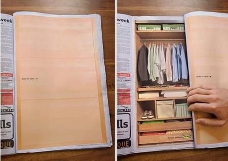Реклама шкафа-купе от IKEA