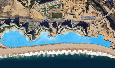 Вид со спутника на самый большой в мире бассейн