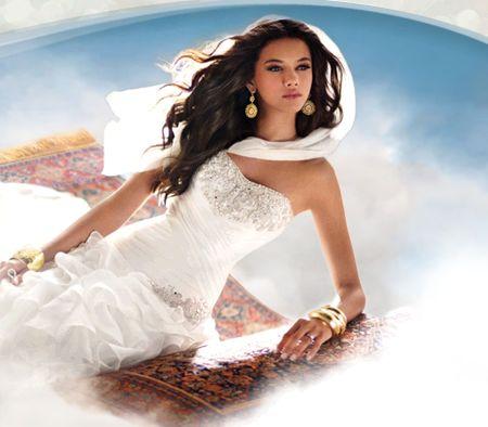 Свадебные платья для принцесс от  Альфреда Анджело — фото 4