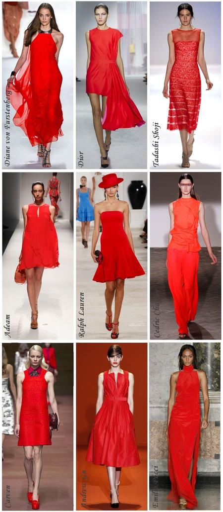 Красный мак — популярный оттенок на подиумах