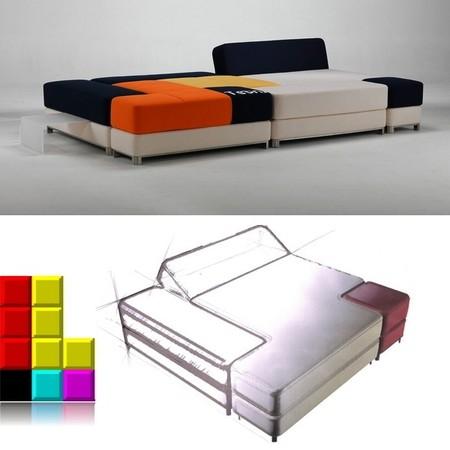 Модульный диван Tetris couch для тех, кто обожает перестановки. — фото 4