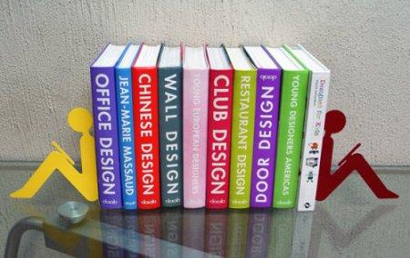 Дизайн на книжной полке: креативные подставки для книг — фото 18