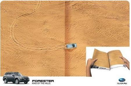 Реклама внедорожника Subaru Forester под девизом: «Король холмов»