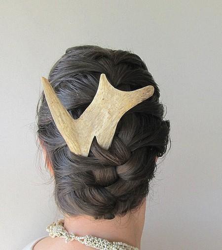 Заколки и гребни для волос из оленьего рога от JC McCairn — фото 7