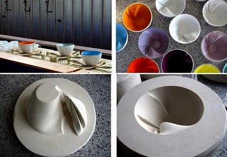 А так делают чудесную посуду от Geraldine De Beco:-)