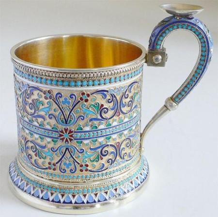 XIX век, серебро и эмаль