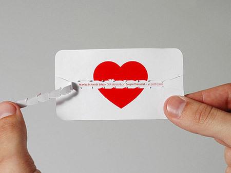 """самая """"сердечная"""" визитка"""