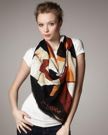 Аксессуары от королевы стиля - шарфы и платки от Diane von Furstenberg — фото 10