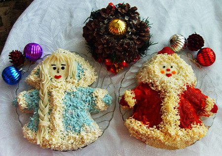 Новогодний декор для праздничных угощений — фото 4