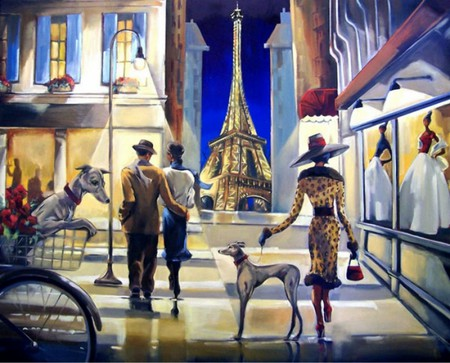 Часто на картинах Триш изображены собаки