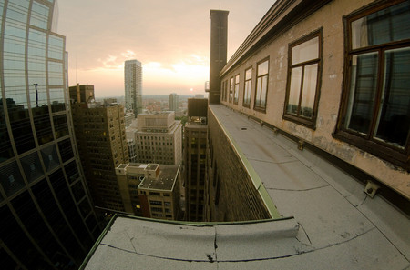 Рассвет в большом городе
