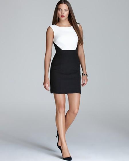 Комбинированное платье – модный способ подчеркнуть достоинства фигуры — фото 6
