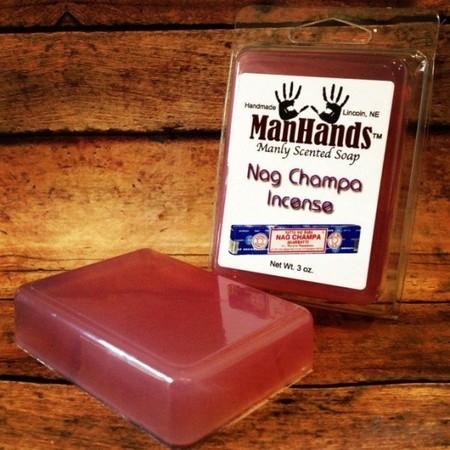 мыло с запахом индйских благовоний (ладан)