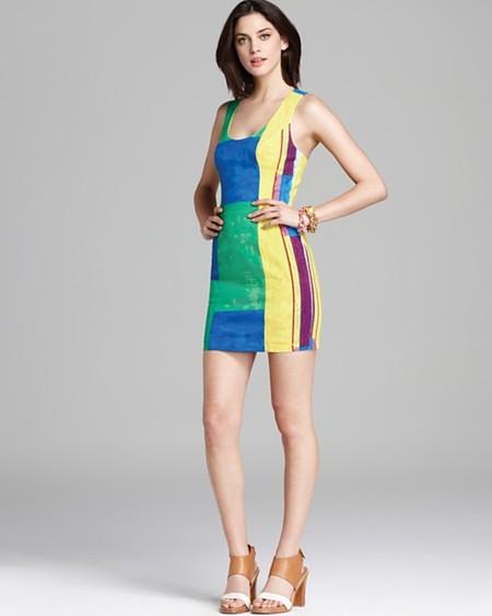 Комбинированное платье – модный способ подчеркнуть достоинства фигуры — фото 10