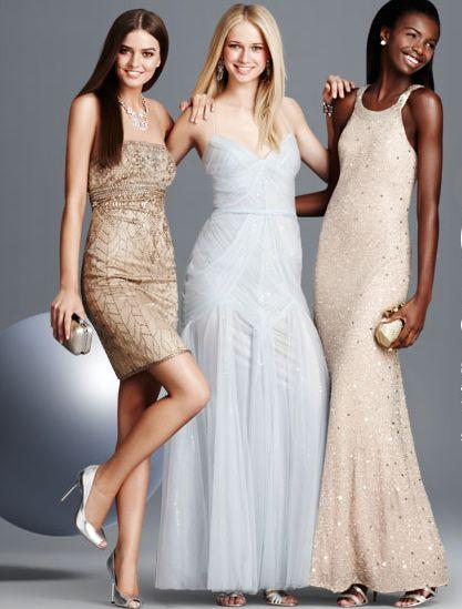 Чаще всего дизайнеры добавляют блеска платьям пастельных тонов