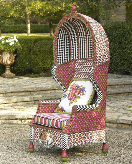 Садовая мебель от MacKenzie-Childs: яркая индивидуальность на приусадебном участке — фото 9