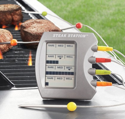 Для тех, кто любит стейки: Charcoal Companion Steak Station Thermometer — фото 1
