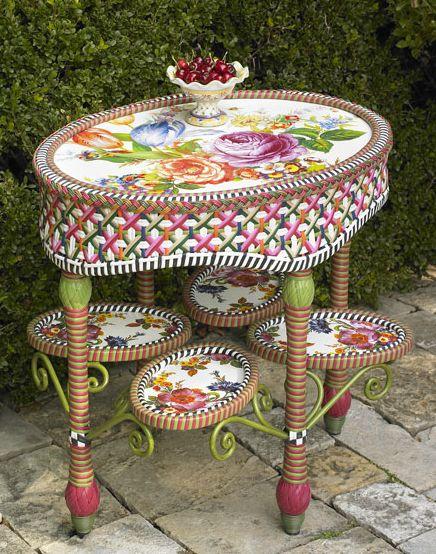 Садовая мебель от MacKenzie-Childs: яркая индивидуальность на приусадебном участке — фото 10
