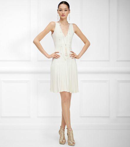 Платье с юбкой-плиссе без накидки