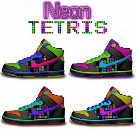"""Неоновые цвета из серии """"Тетрис"""" особенно ярко смотрятся в клубном ультрафиолете"""