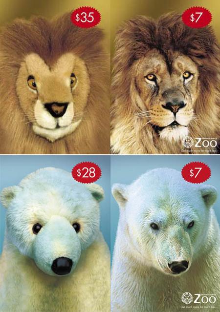 Сравните цену мягкой игрушки и билета в зоопарк. Живые звери выходят дешевле!