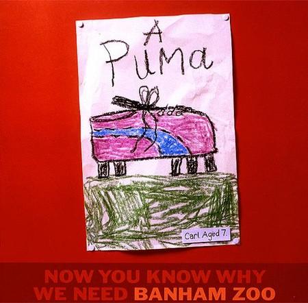 Если Ваш ребенок так изображает пуму, то пора сводить его в зоопарк :-)