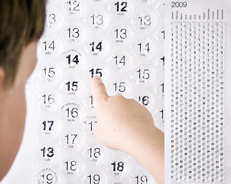 """2009 год: календарь для любителей пленки с """"пупырышками"""" :-)"""