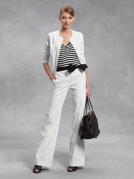 Лето в городе - белый жакет от DKNY — фото 4