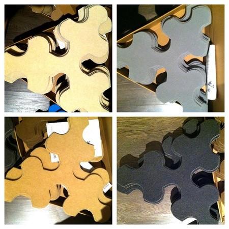 Сегменты упакованы в компактные треугольные коробки