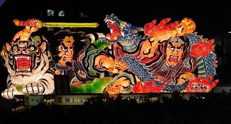 Огромные бумажные фонарики японского фестиваля Аомори Небута — фото 6