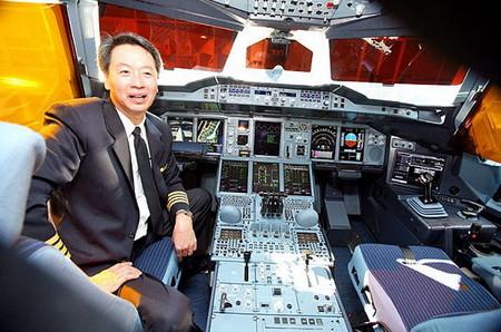 Кабина пилотов А380