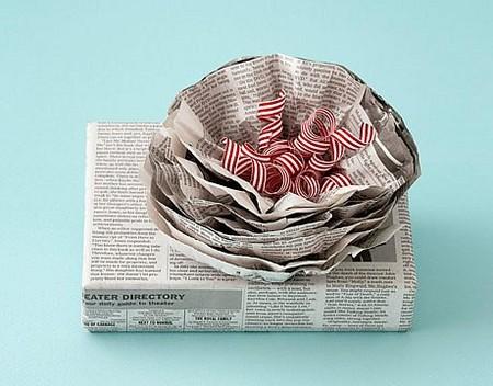 Подарочная упаковка из газеты