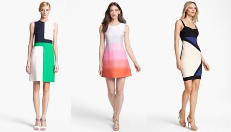 Комбинированное платье – модный способ подчеркнуть достоинства фигуры — фото 1