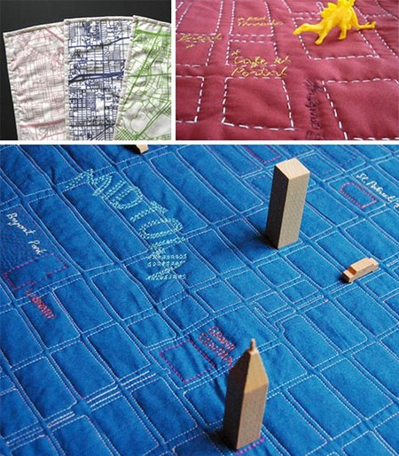 В незнакомом городе поможет одеяло? Проект Soft Maps – текстильные карты. — фото 1