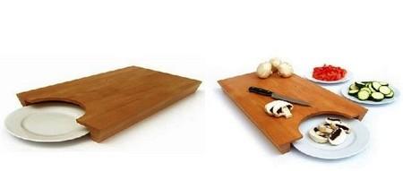 Комплект из доски и тарелки