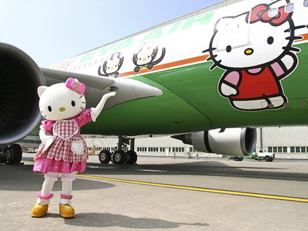 Лайнер Hello Kitty, приводящий в восторг тайваньских пассажиров. — фото 1