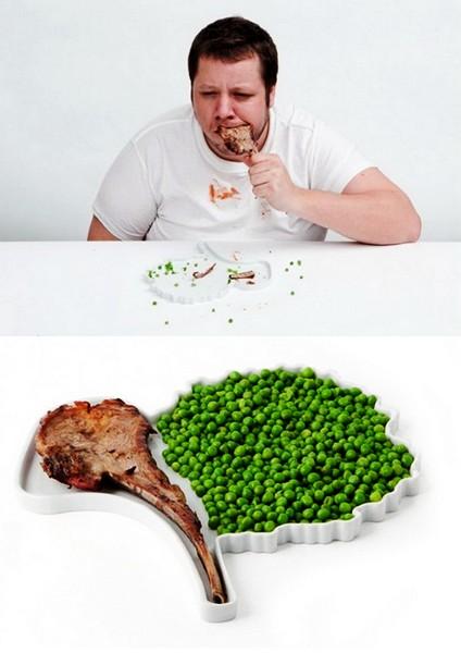 Для креативного обеда: подборка дизайнерских тарелок — фото 11