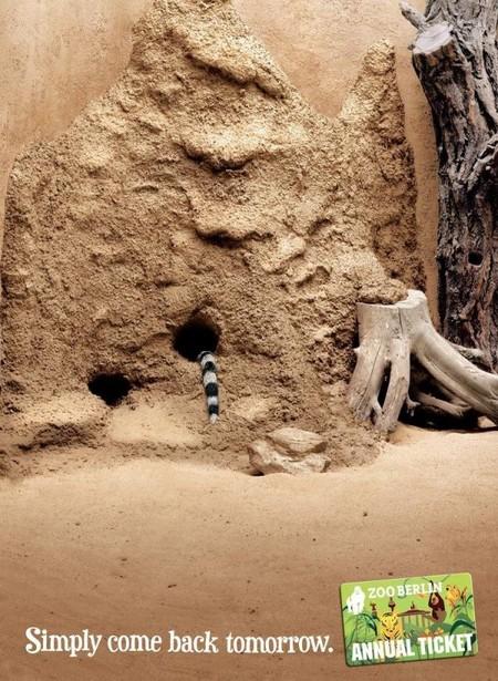 Реклама годового абонемента в Берлинский зоопарк: просто приходите завтра