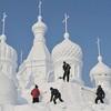 Китайский Фестиваль скульптур из снега Jingyue Snow World Festiva