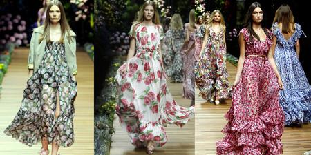 Длинные платья в пол от дуэта Domenico Dolce and Stefano Gabbana