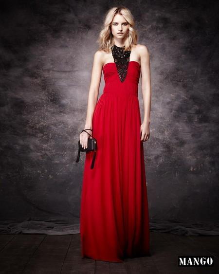 Платье в пол с верхом-бюстье