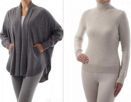 Теплые и уютные комплекты с кардиганом и свитером